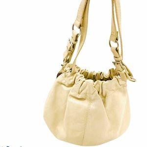 VINTAGE ALDO Cream Leather Boho Shoulder Bag Purse